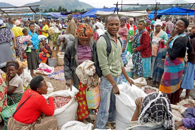 Kisoro markt, voor al uw bonen