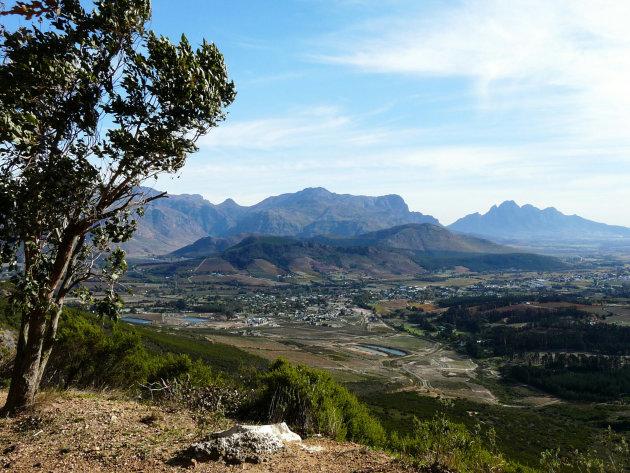 Uitzicht op wijnvallei