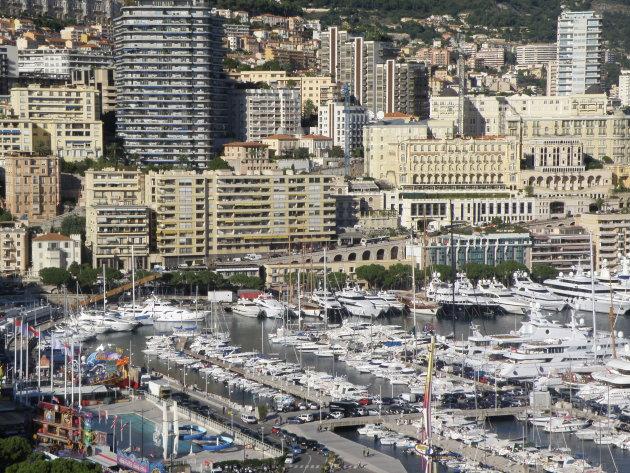 De haven van Monaco