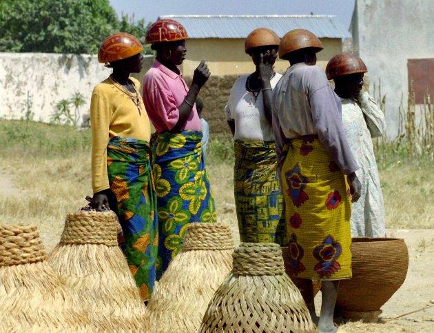 Goudour vrouwen op de markt