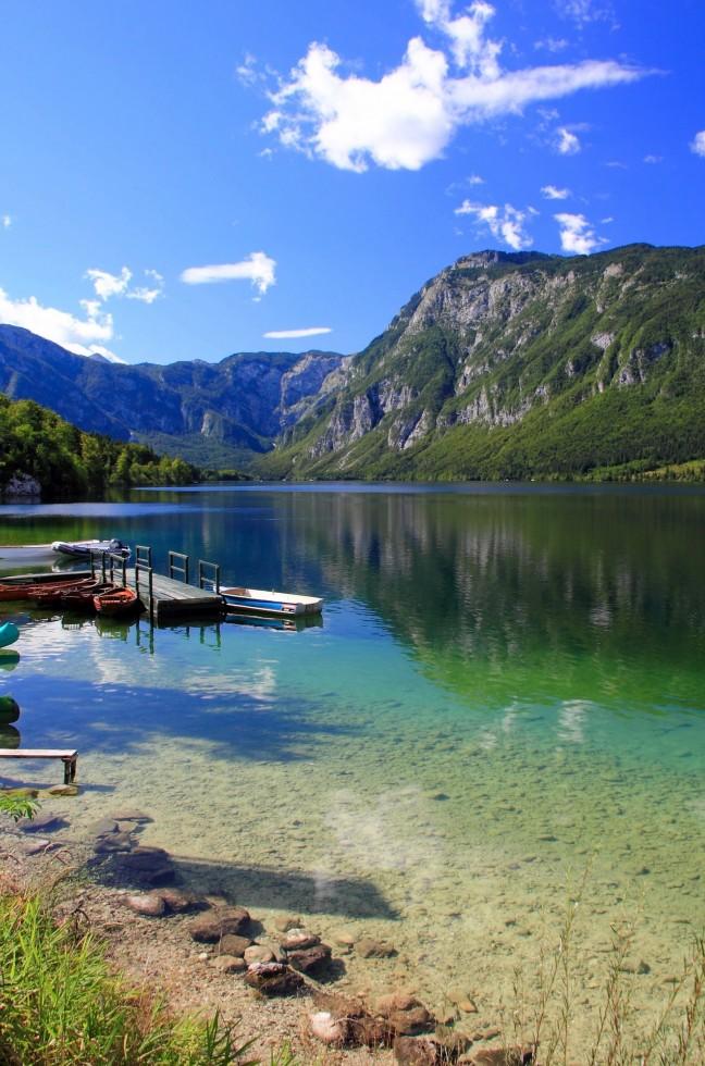 Het meer van Bohinj
