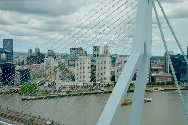 Door de brug