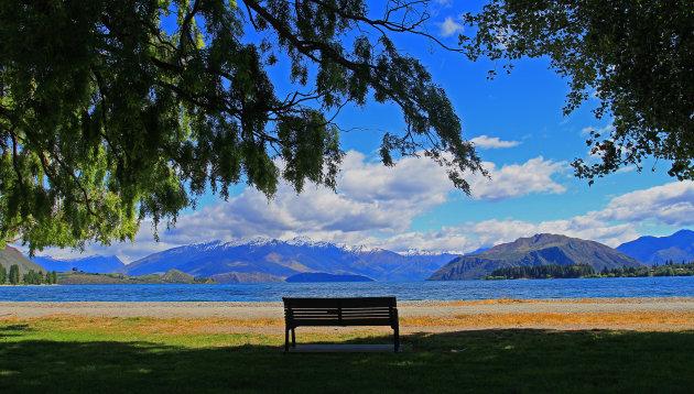 Magisch uitzicht over Lake Wanaka