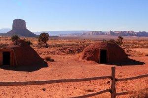 Traditionele woning Navajo's
