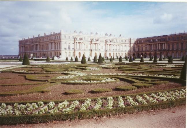 In de tuin van het kasteel van Versailles