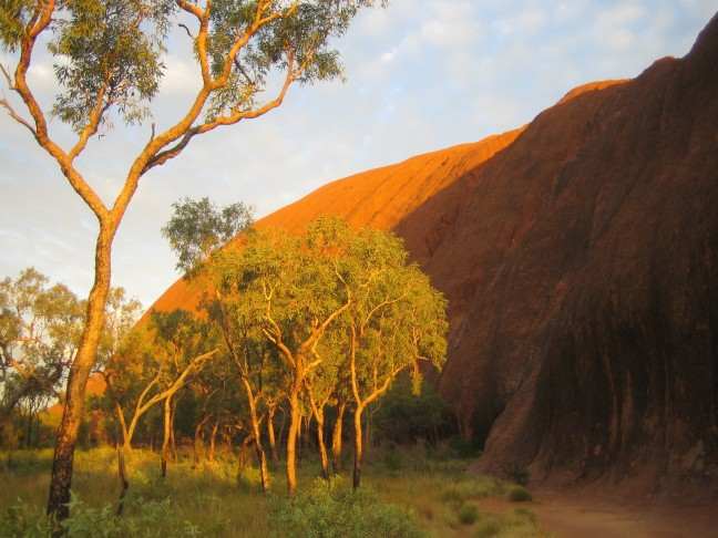 uluru in de outback van australie