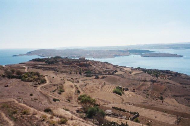 Uitzicht vanaf Gozo