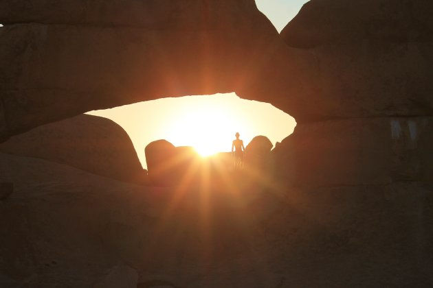 Standing in the Rock Arch @ Sunset
