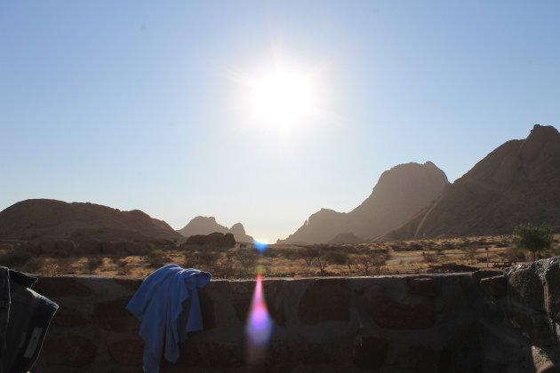 Fantastisch douche @ Spitzkoppe, Namibië