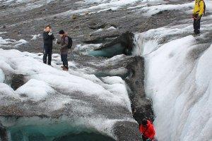 Gletsjerwandelen bij Skaftafell NP