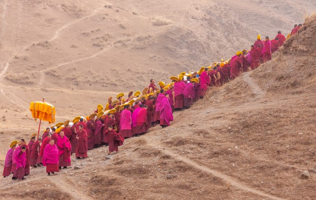 Monniken in Xiahe