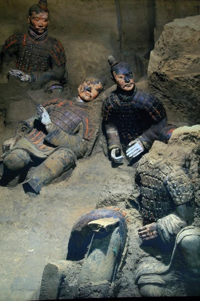 De gekleurde strijders van het Terracotta leger