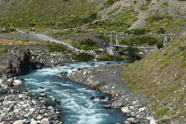 Start punt van een wandeling in Torres del Paine