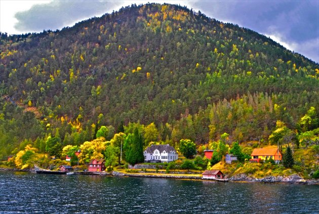 aan boord op de Sognefjord