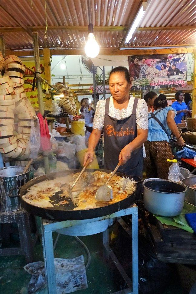 bakken op de markt.