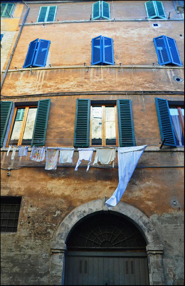 De was hangt in Siena