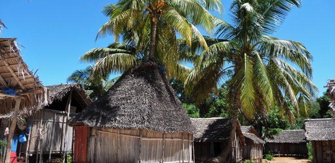 Eilandje voor de kust van Madagaskar