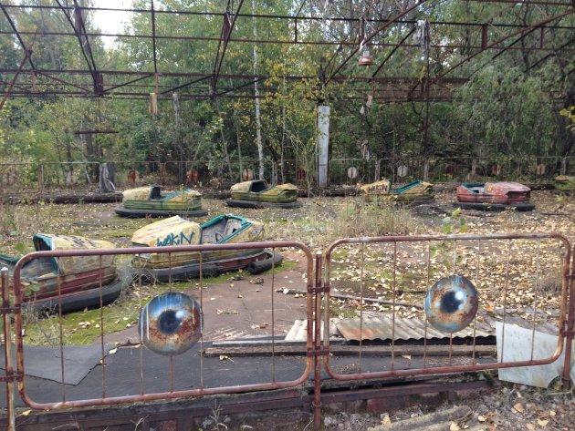 Verlaten kermis in Pripyat