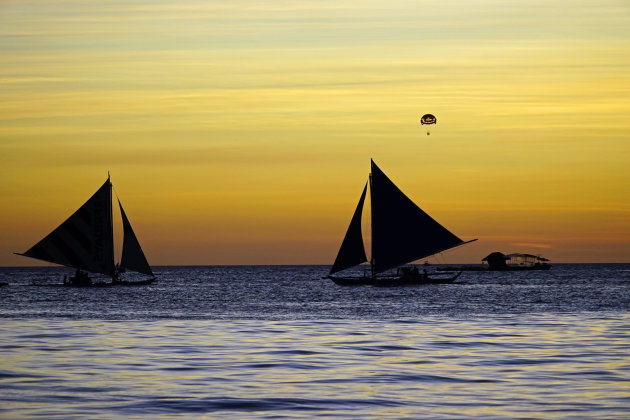 Zonsondergang op Boracay eiland