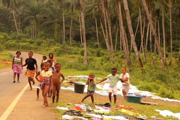 was naast weg, Sao Tomé