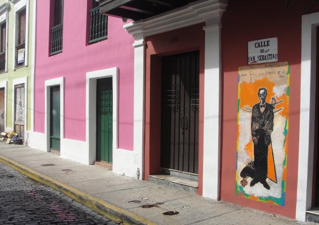 Kleurrijk straatbeeld
