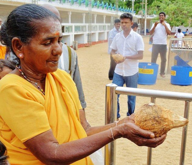 Kokosnoot kapot gooien