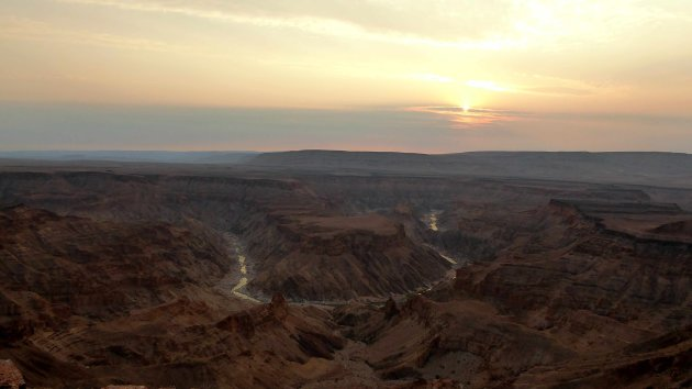 Avondzon in de canyon