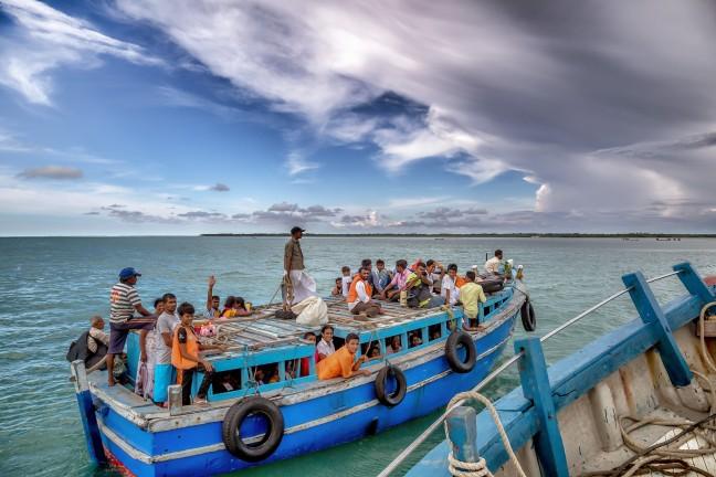 De boot naar Delft Island