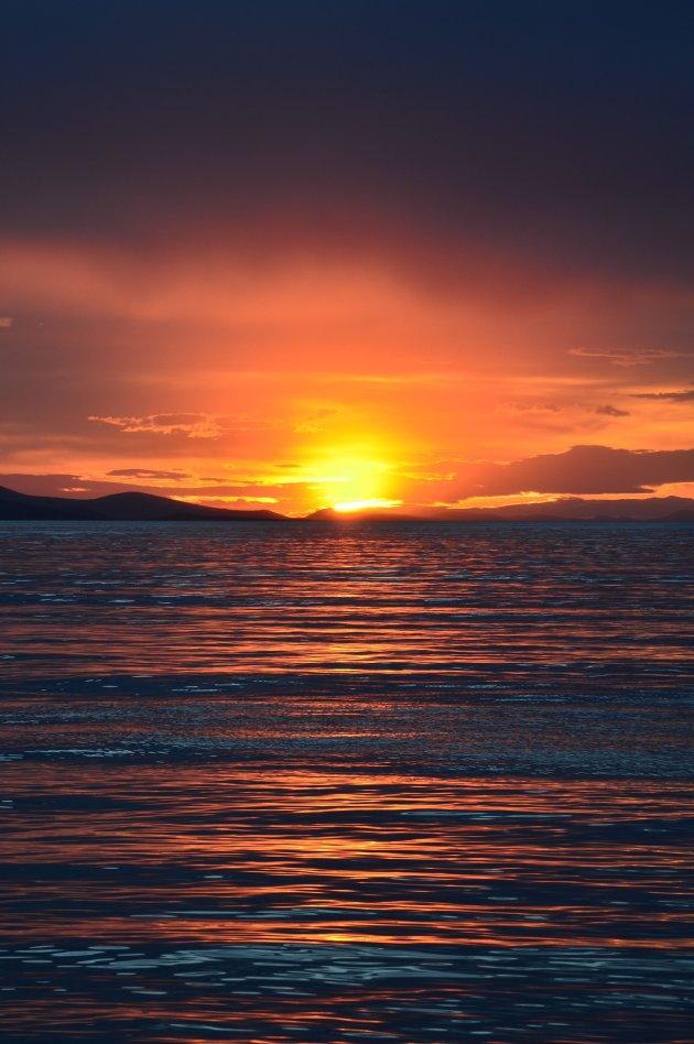 Zonsondergang bij Zadar