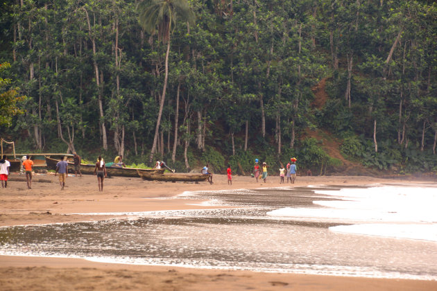 het strand van Sao Joao dos Angolares