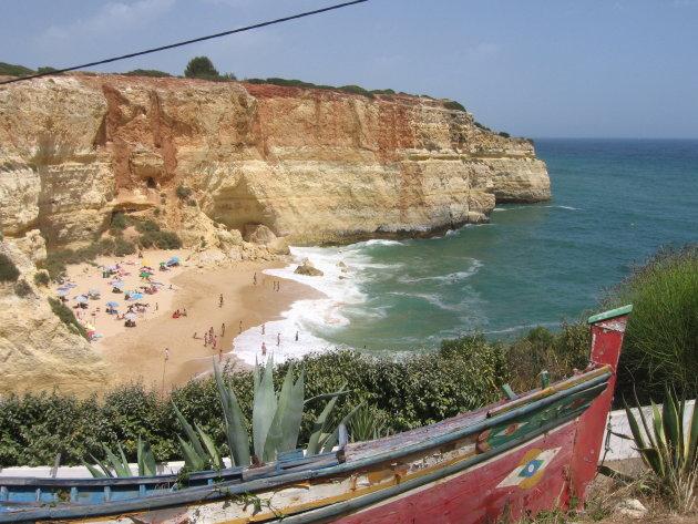Baai nabij Praia do Carvoeiro