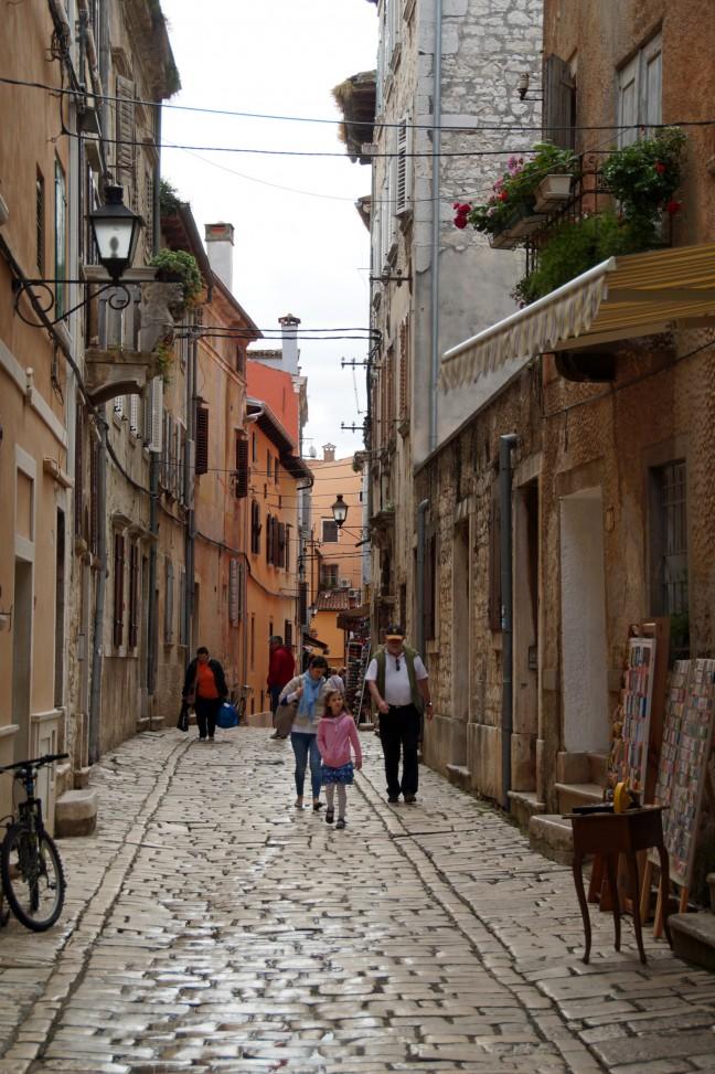 De smalle straatjes van Rovinj