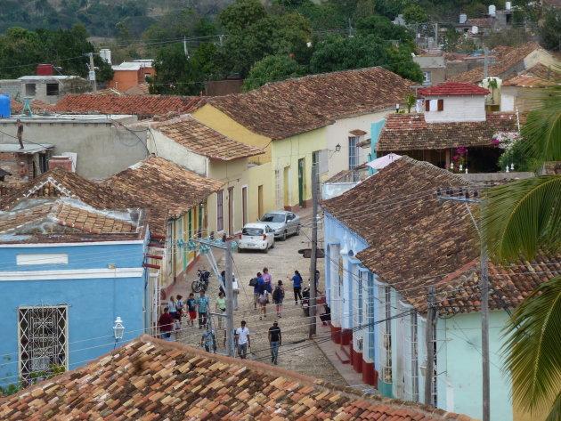 Kleurrijk Straatje in Trinidad