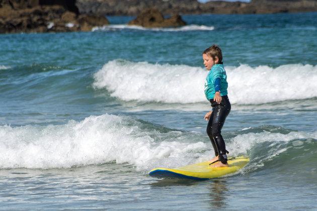 Ik leer surfen in St Ives