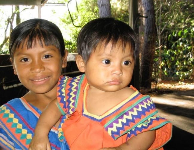 Indianenkinderen in Boquete