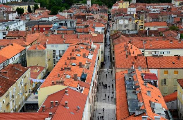 Zicht op Zadar