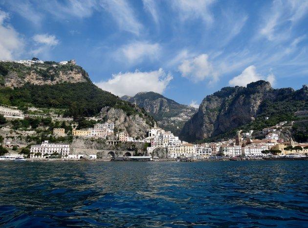 Zicht op Amalfi