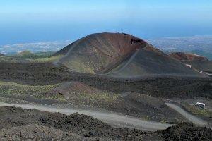 Panorama foto bij de Etna