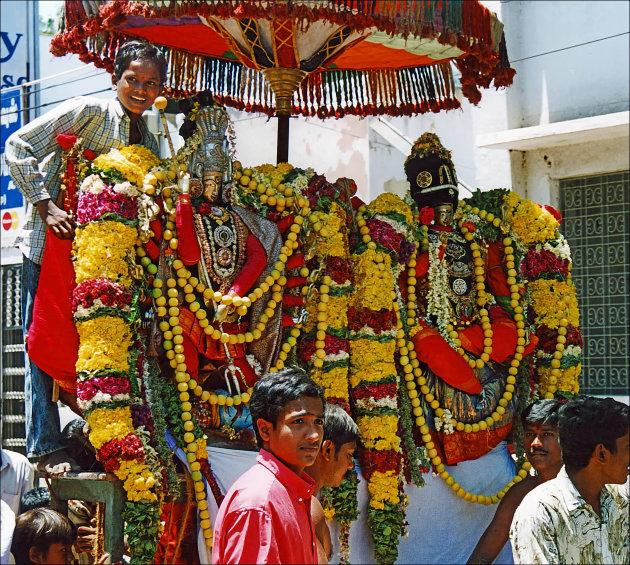 Het huwelijk van Meenakshi en Shiva