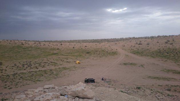 Crossen in de karakum woestijn