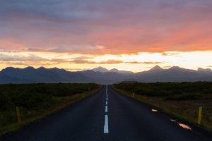 Zonsondergang op Snæfellsnes Peninsula
