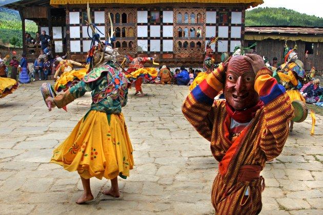 Een tshechu in Bhumtang