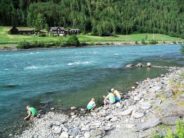 Chillen aan de de rivier