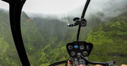 Adembenemende helikoptervlucht