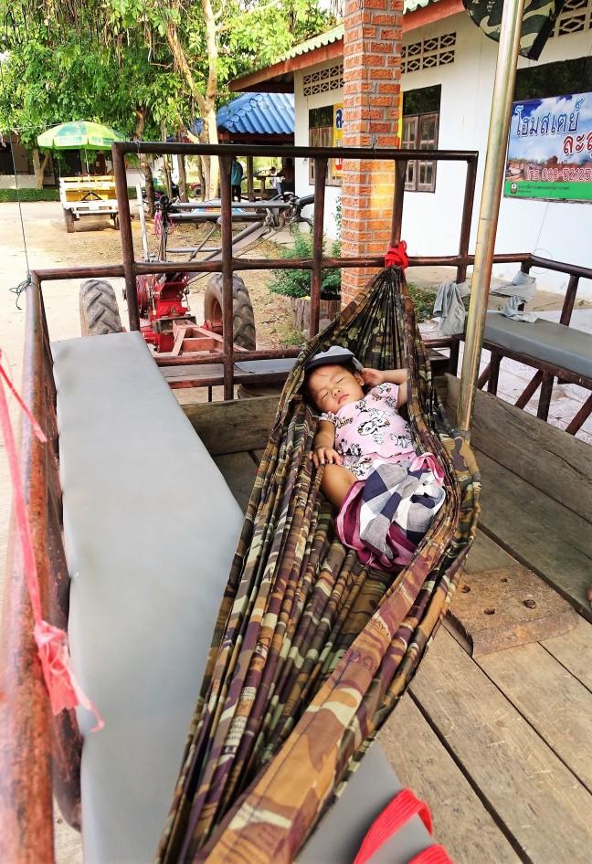 Slapen in de hangmat.