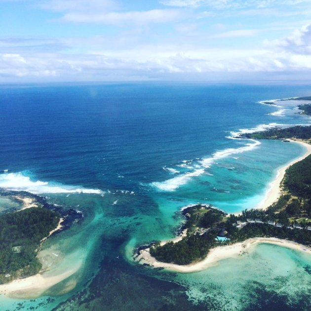 Mauritius from above