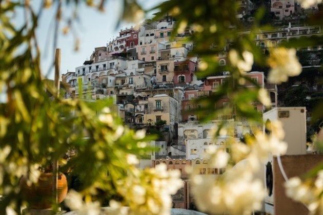 Doorkijk op Positano