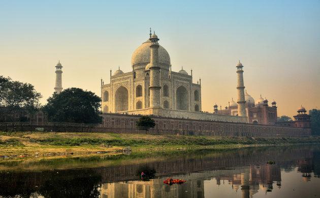 De Taj Mahal vanaf de achterkant