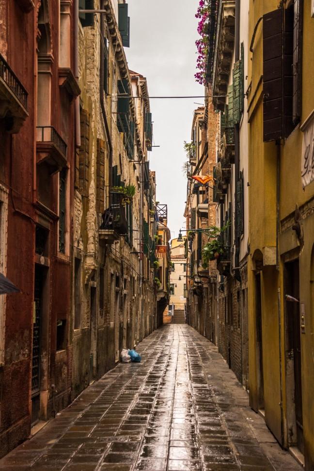 Een regenachtige dag in Venetië