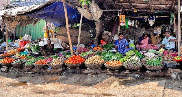 Markt in Madurai